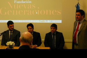 Left to Right: Eugenio Burzaco, Joseph Humire, Carlos Chácon, and Julían Obligio